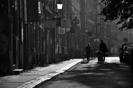 På gatan